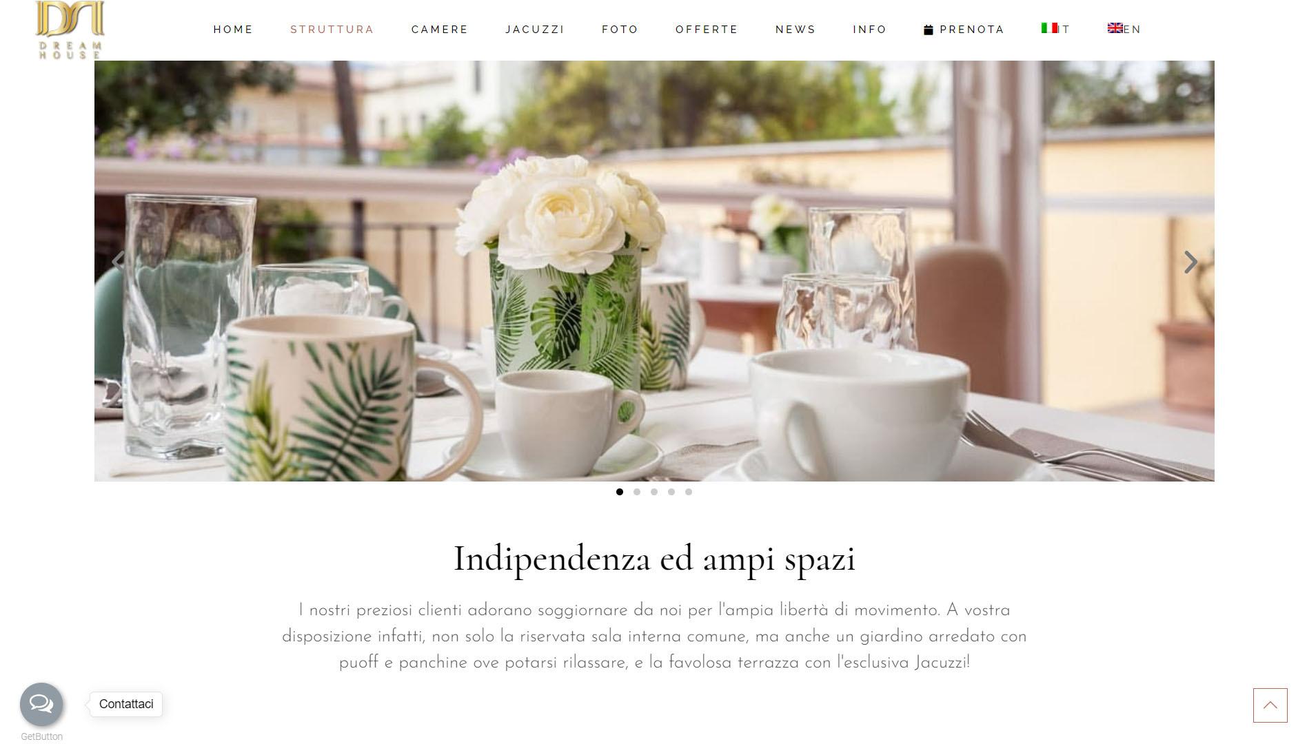 Sito web per bed and breakfast in Campania 3