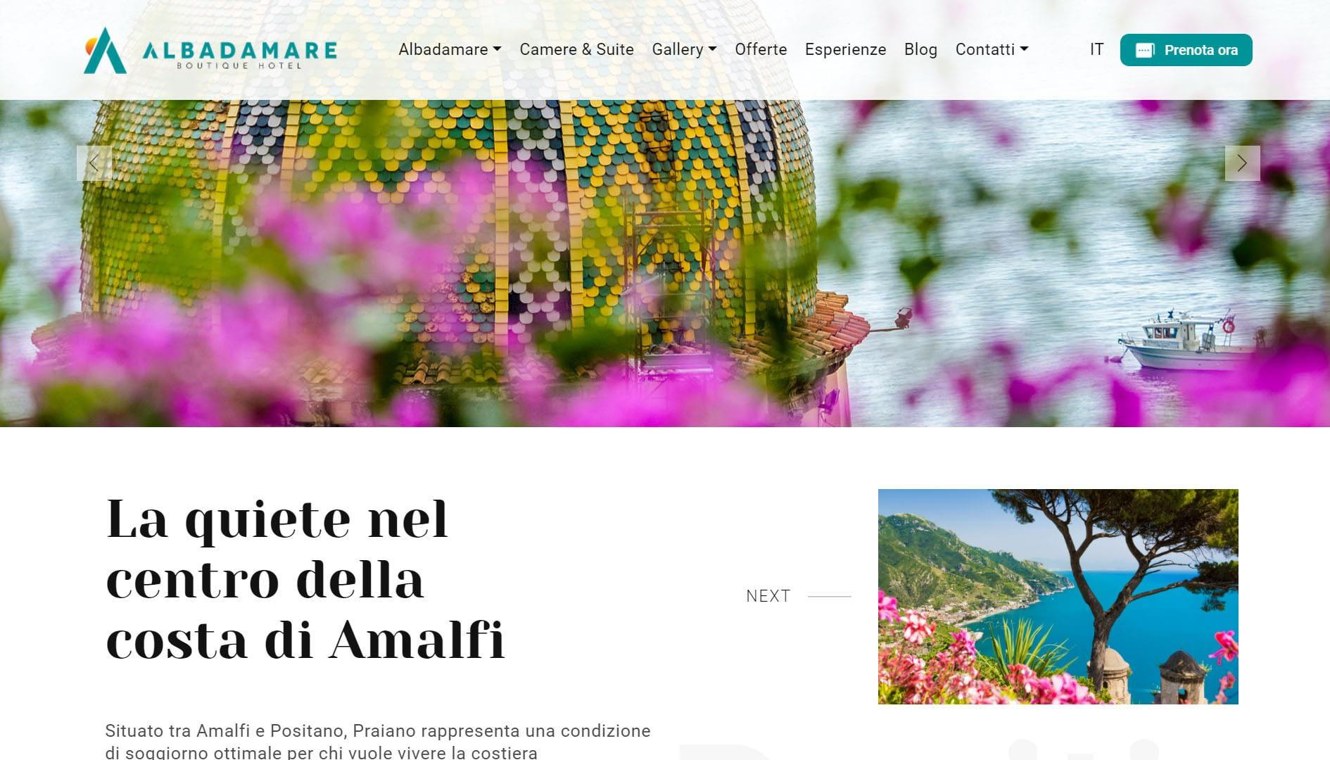 Albadamare Sito web per boutique hotel 3