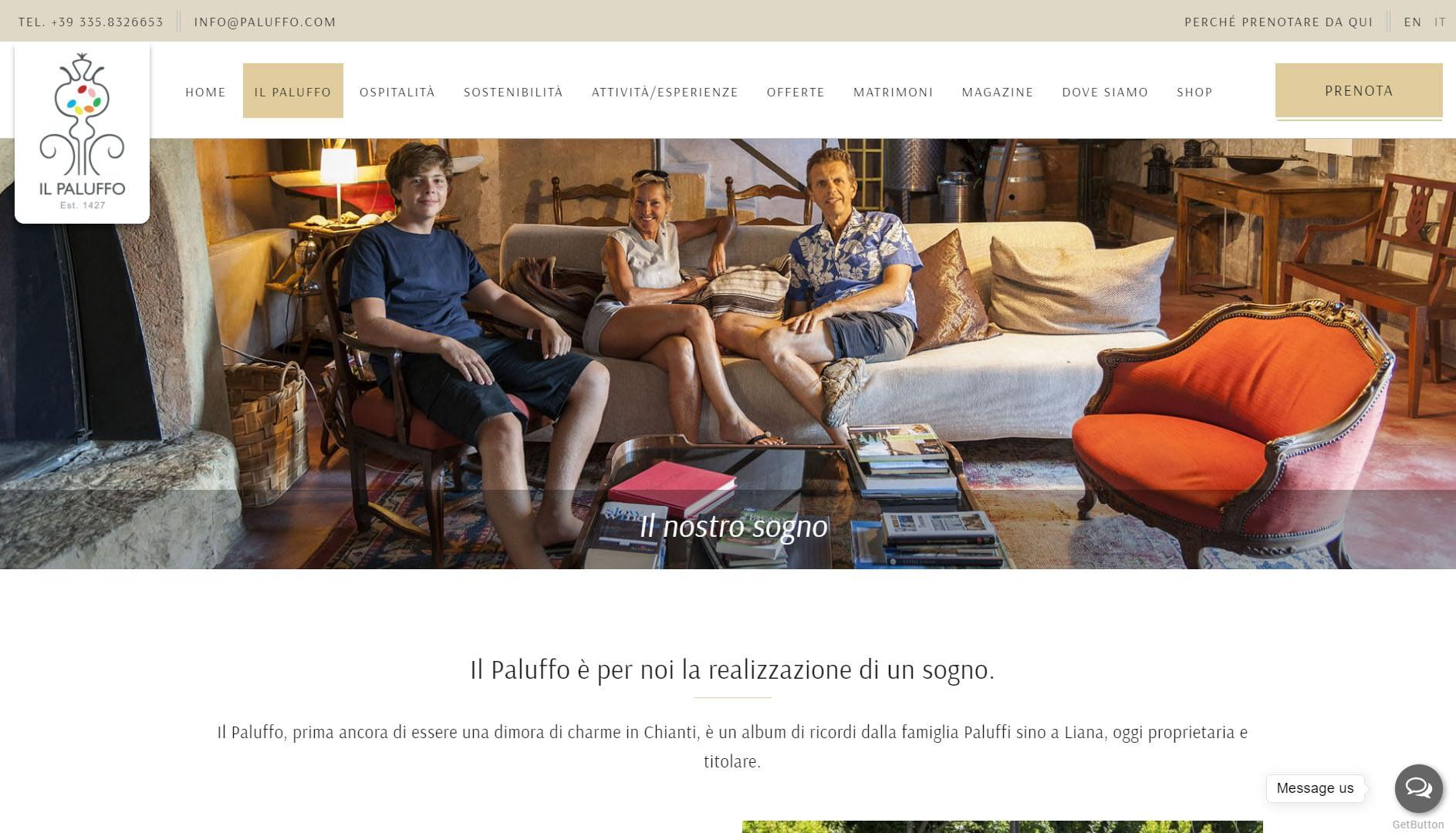Paluffo: sito web realizzato per affittacamere nel Chianti