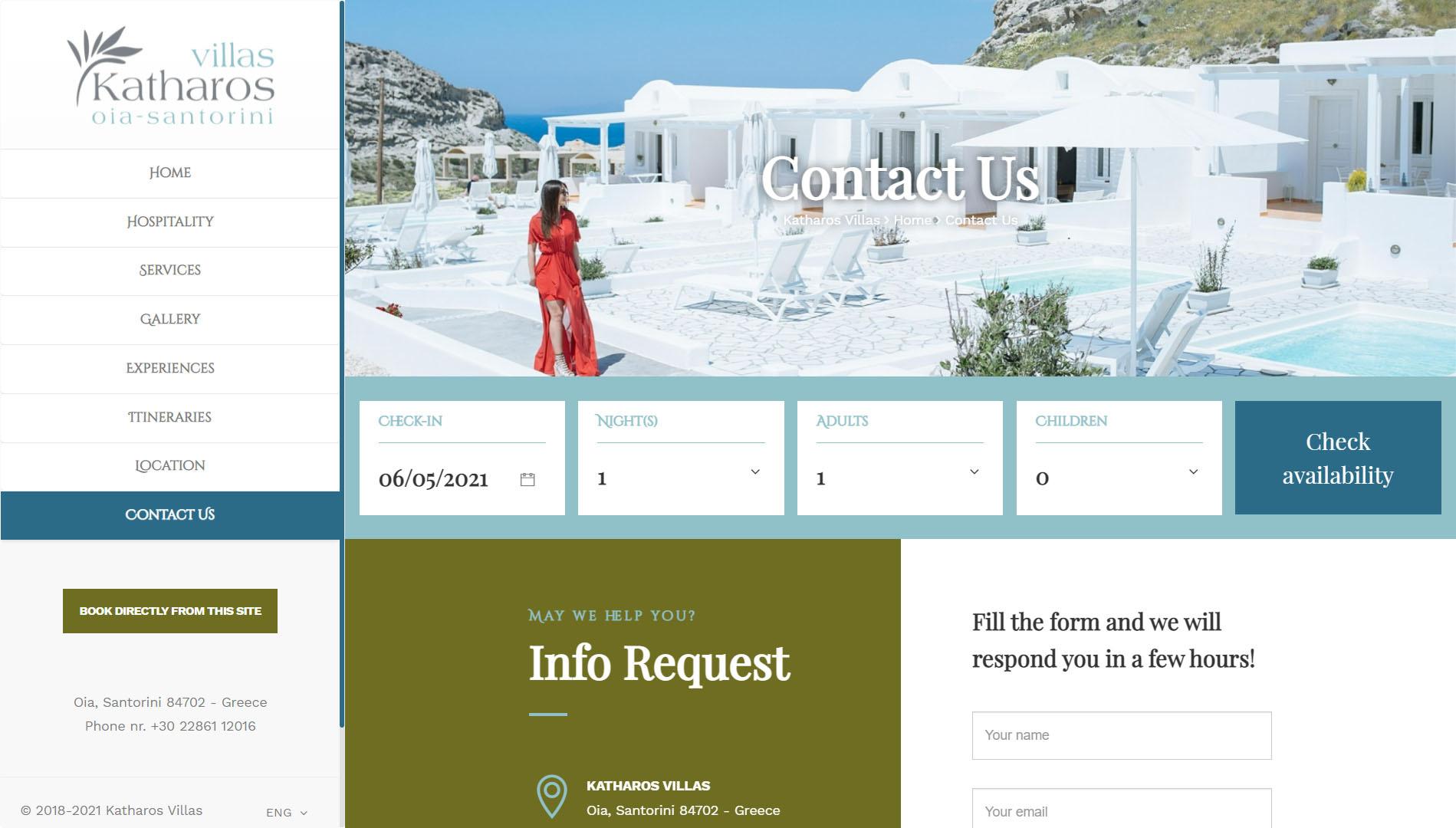 Realizzazione Sito web per resort e villaggi turistici