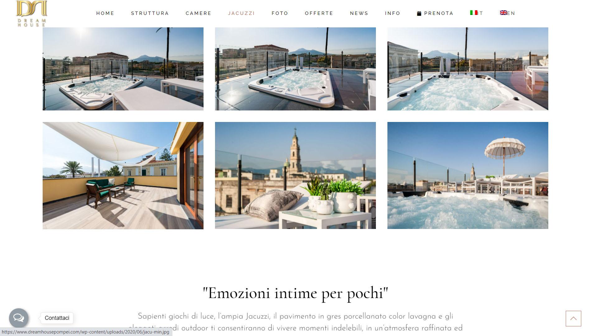 Sito web per bed and breakfast in Campania