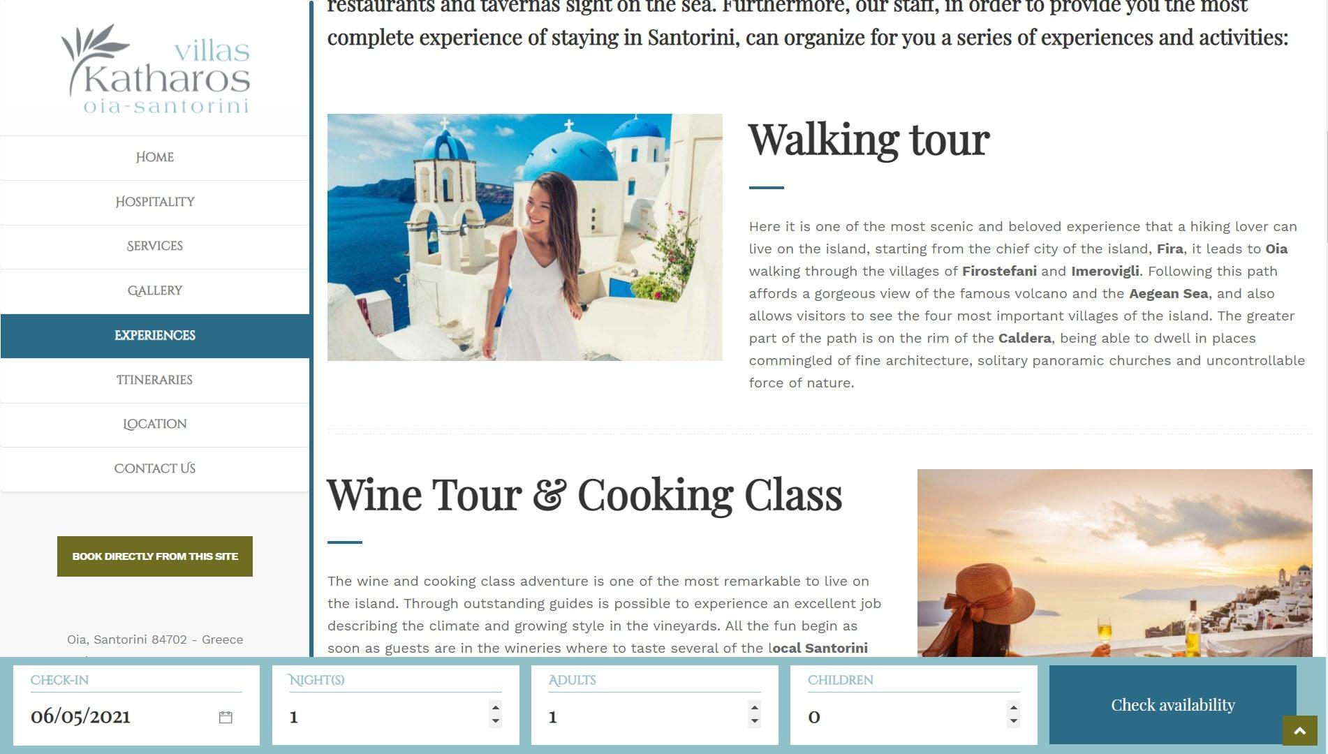 Realizzazione Sito web per resort e villaggi turistici 2
