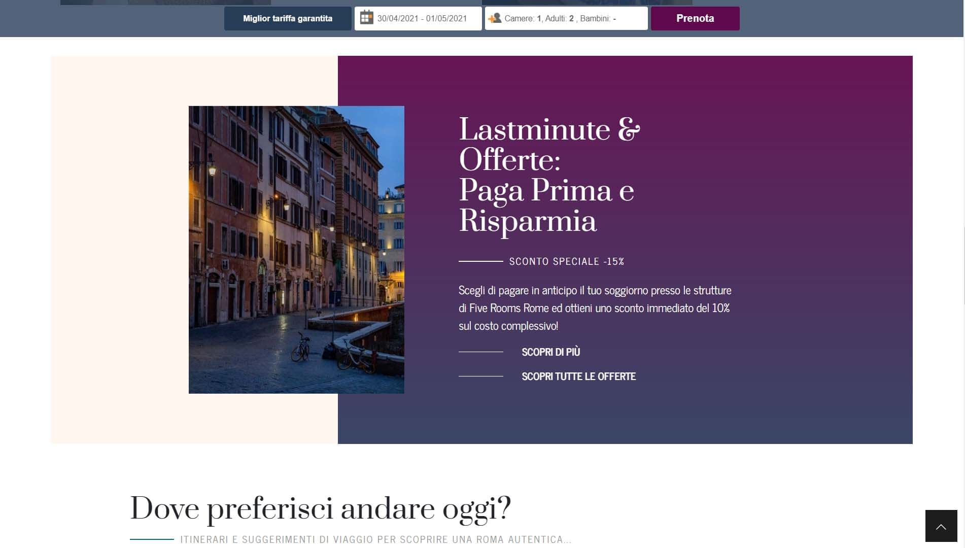 Sito web per Guest House a Roma 2
