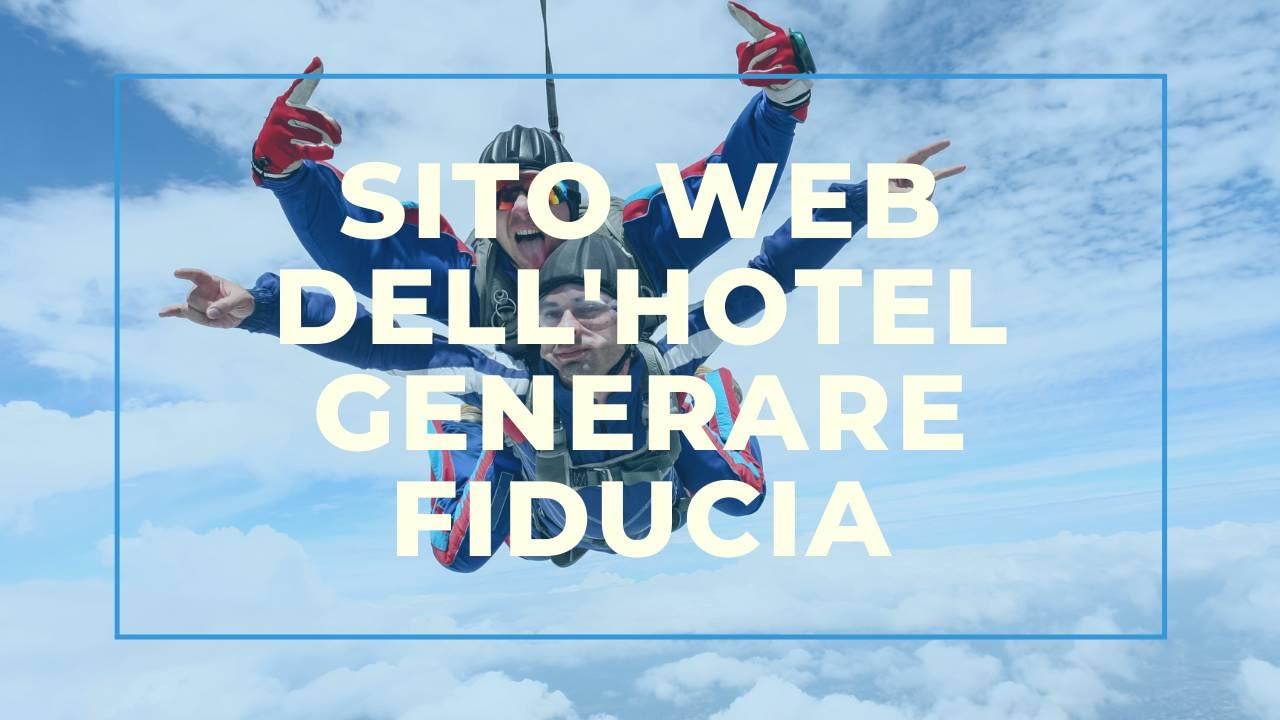 Sito web dell'hotel: generare fiducia