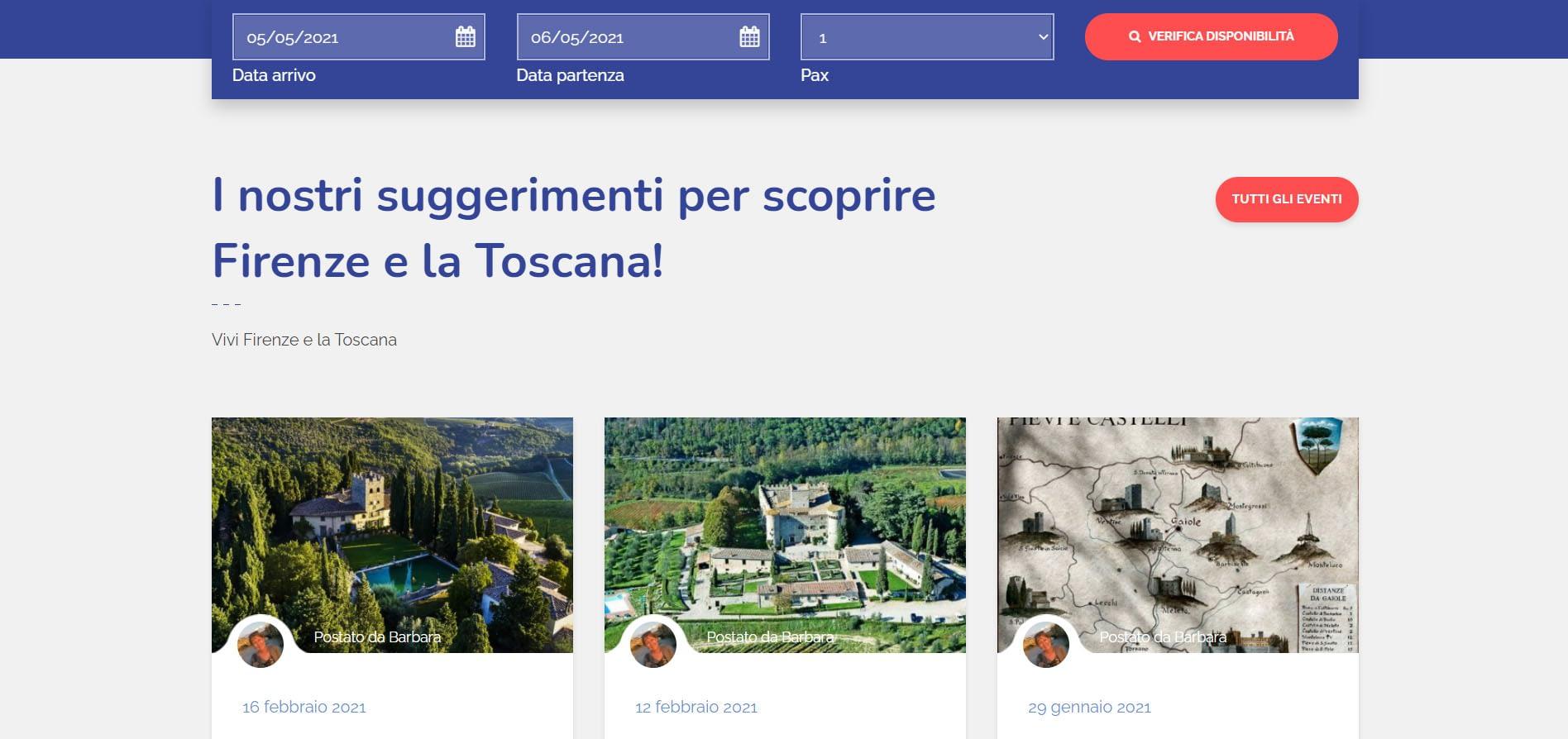 Realizzazione sito web per property Manager: Flo Apartments 3