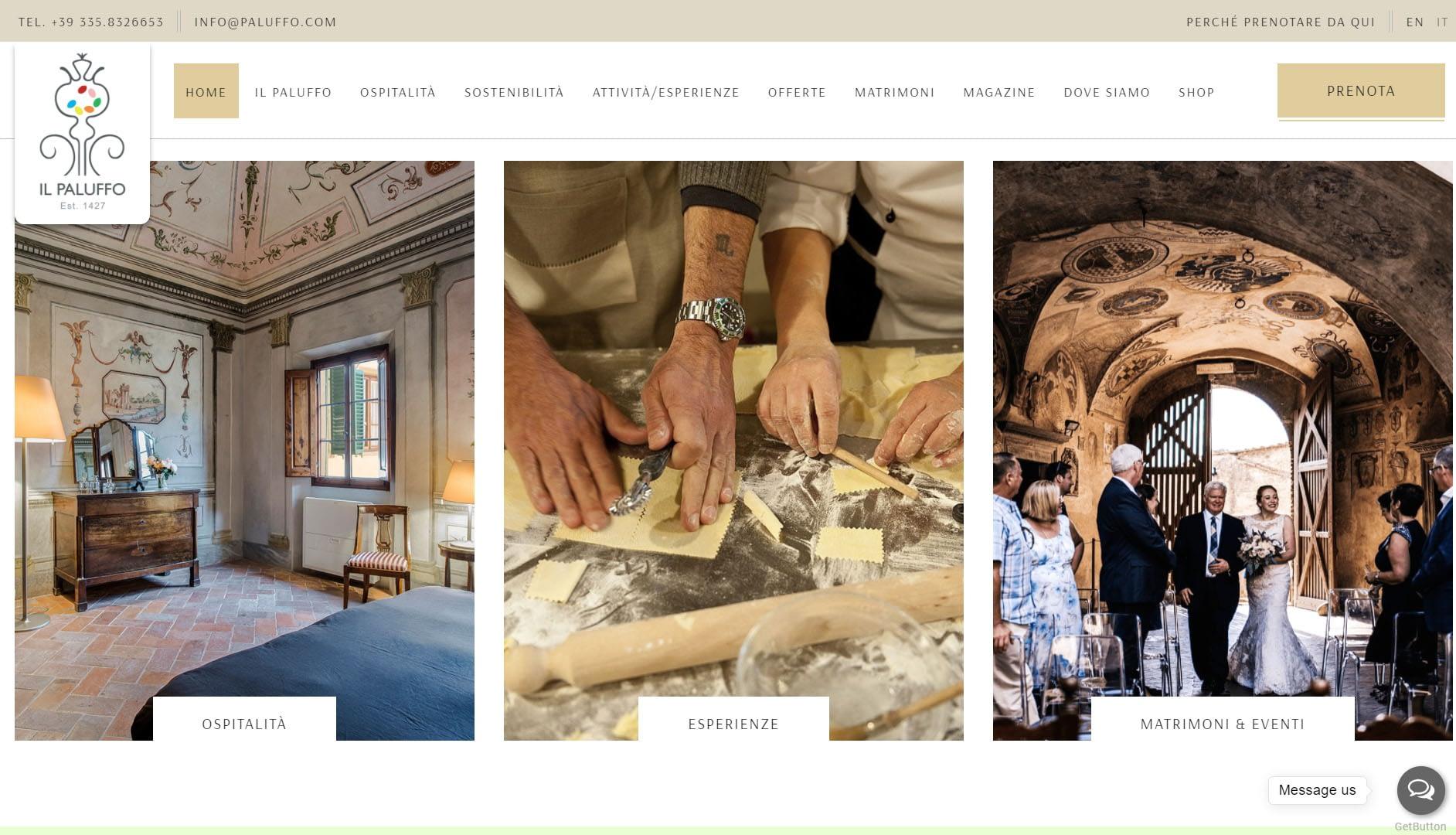 Sito web per Agriturismo Chianti