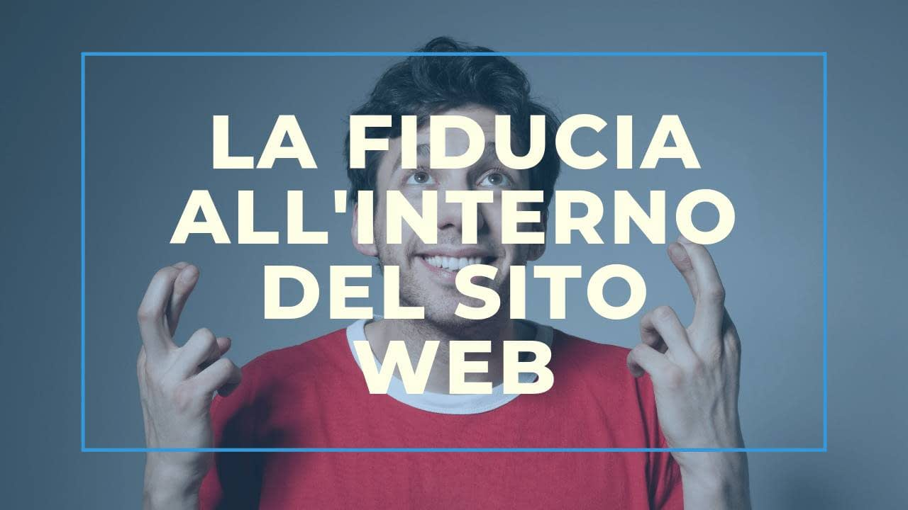 La Fiducia all'interno del sito web