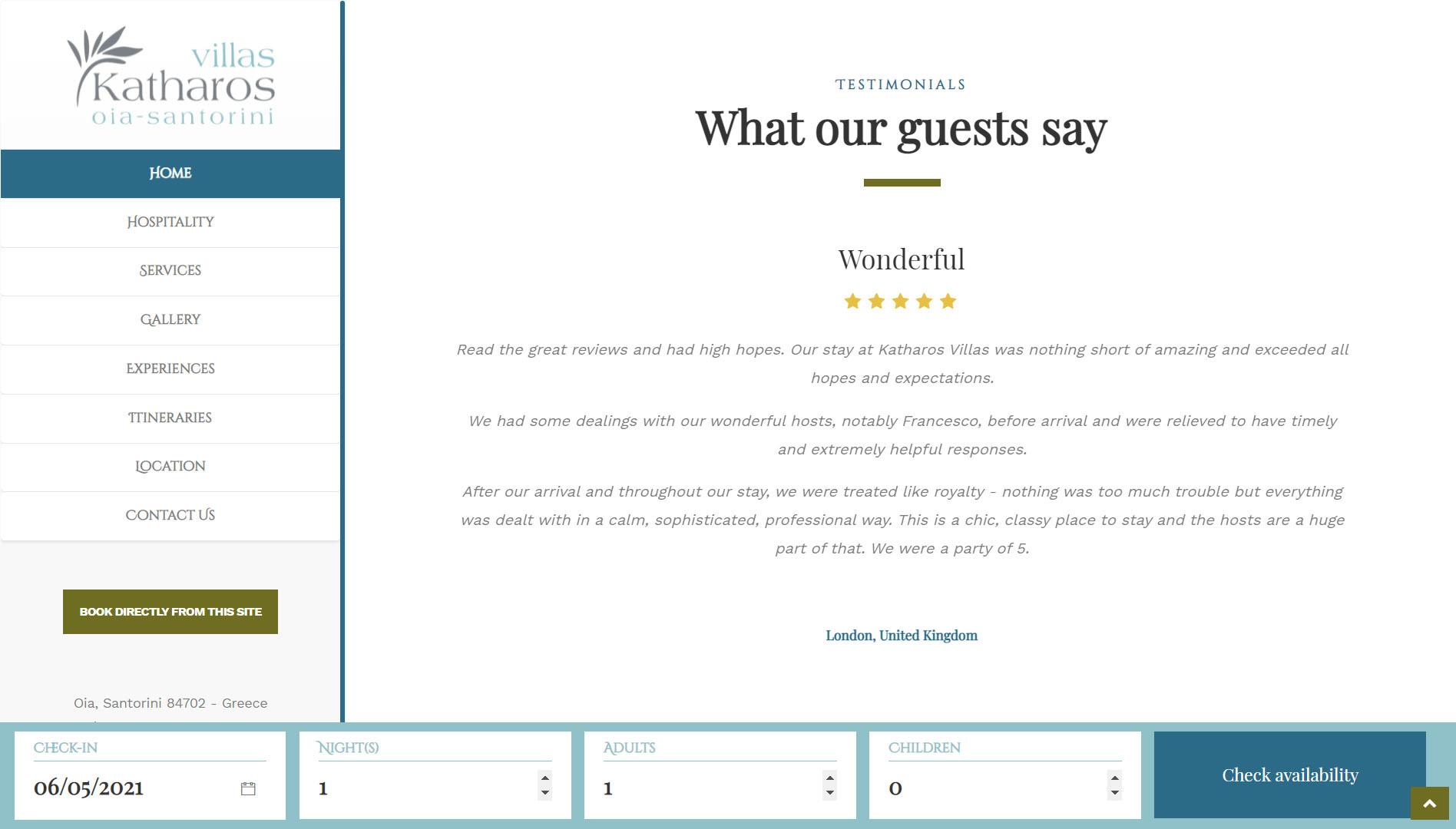 Realizzazione Sito web per resort e villaggi turistici 4