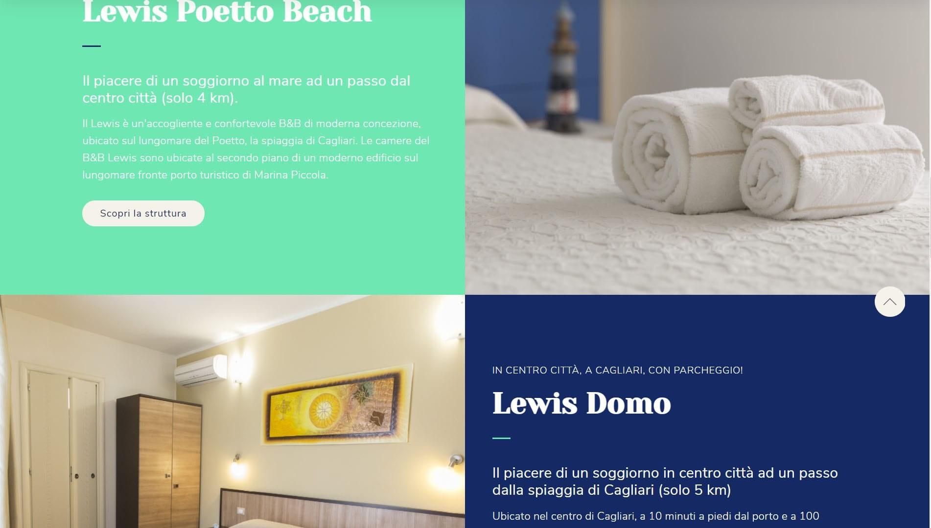 Sito web per b&b Lewis Rooms 3