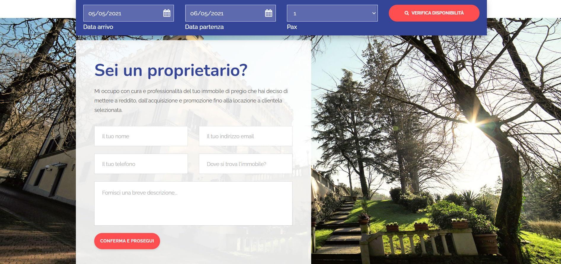 Realizzazione sito web per property Manager: Flo Apartments 5